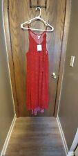 A:Glow Maternity Halter Maxi Dress, L or XL, red, NWT