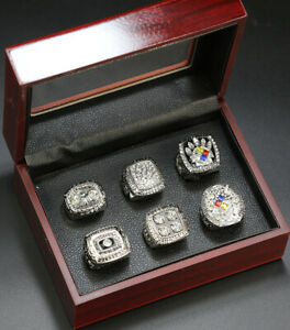 Pittsburgh Steelers Ring Steeler Super Bowl Championship Rings Set Silver Ring