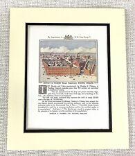 1914 Antique Print Huntley & Palmers' Biscuits Factory Original Advert Art Deco