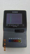 "Vintage Casio Battery 2.3"" Screen Crystal Vision Handheld Tv (Tv-770B)"