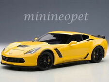 AUTOart 71263 CHEVROLET CORVETTE C7 Z06 1/18 MODEL CAR RACING YELLOW