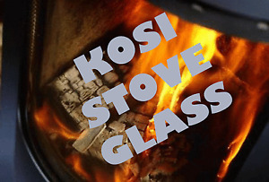 KOSI REPLACEMENT STOVE GLASS SHAPED 235 x 210 - ALL MODELS - MADE TO MEASURE