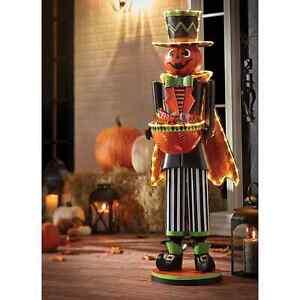 4' Pre-Lit Halloween Decor Pumpkin Head Lantern Door Greeter