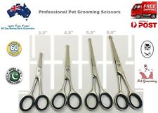 """PROFESSIONAL PET DOG GROOMING CURVED BALL TIP HAIR CUTTING SCISSORS 3.5"""" to 6.5"""""""