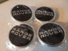 RANGE ROVER BLACK CHROME CENTRE CAPS L322 EVOQUE SPORT AUTOBIOGRAPHY VOGUE