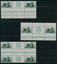 (ZDDR61) DDR 1989, Michel Nr. hHz17,hHz17.1,Hz 13.1, postfrisch, MK 18,75 €