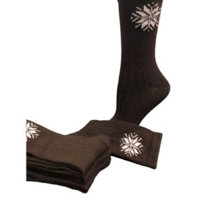 Snowflake Pattern Soft Acrylic Crew Women's Socks W7111S