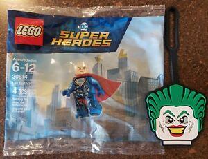 LEGO DC SUPER HEORES SUPERMAN LEX LUTHOR MINI FIGURE 30614 NIB with Joker tag