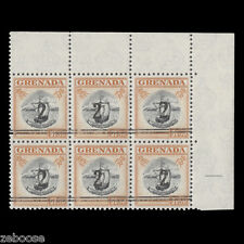 Grenada 1965 (Revenue) 2c/$1.50 Colony Badge block x 6