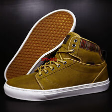 VANS ALOMAR + SUEDE INDO SPRUCE YELLOW MEN'S SKATE SHOES/S8914.324