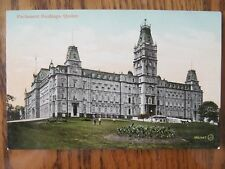 Vintage Postcard Parliament Buildings Quebec Canada City