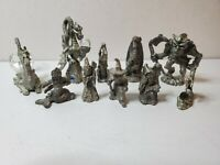Lot of 10  Fine Pewter Dragons & Fantasy Figurines Spoontiques Cutters