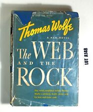 The Web And The Rock By Thomas Wolfe 1939 Hardcover BOOK LOT A148