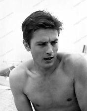 8x10 Print Alain Delon Handsome Bare chested Beach #AD33