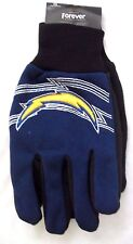 San Diego Chargers Raised Team Logo Licensed Sport Utility Gloves-New with Tags