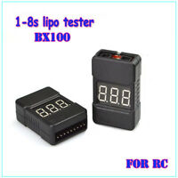 Lipo Battery Low Voltage Tester Checker 1S-8S Buzzer Alarm With LED Indicator HQ