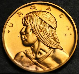 Panama Centesimo, 1970 Rare Proof~Only 9,528 Minted~Uracca