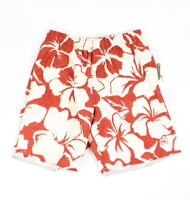 Quicksilver Mens Bombora Floral Boardshorts Red Beige S New