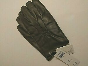 NWT- Abercrombie & Fitch Men's 100% Lamb Leather Gloves  (S/M)