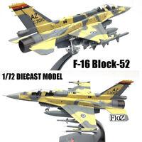 F-16 Block-52 1/72 diecast  plane model aircraft