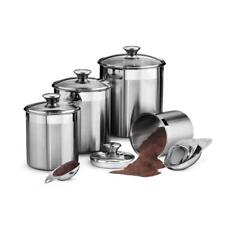 Tramontina Kitchen Canister Scoop Gourmet Stainless Steel 8 Piece Covered Set