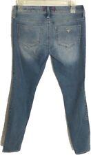 GUESS Women Jun Size 27 Pascal Blue Jeans Low Rise Jeggings Maxine Fit Distress