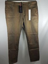 Anna Scholz Women Ladies Bronze Snake Print Jeans plus Size 18 BNWT LJDec07-1