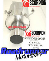 "Scorpion Honda Civic Type R EP3 Stainless Steel Back Box Exhaust 01-05 4"" Round"