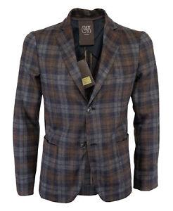 NWT COATS MILANO MOORER SPORT COAT blazer jacket grey blue wool Italy 48 us 38