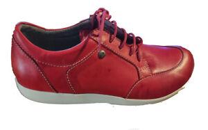 Wolky Sneaker Basis Flotter Schnürschuh rot Wechselfußbett Größe 38