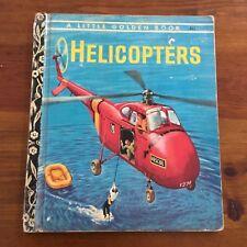 Little Golden Book HELICOPTERS NO #205;  - 4 Colour Back vintage 1960 VGC