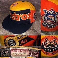 VTG 1986 Throwback AMERICAN NEEDLE Cooperstown MLB Houston ASTROS Baseball Cap