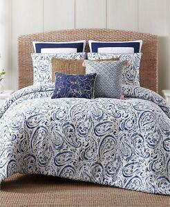 Oceanfront Resort Indienne Paisley 100% Cotton Duvet Set - FULL / QUEEN - Blue