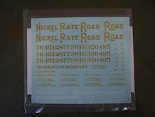 Nickel Plate Road (NKP) Berkshire, Nos. 700-831, Decals, O-scale