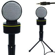 3.5 mm Mini Microfono a condensatore-PC / MAC / Laptop AUX-Telefono Volume Control STAND