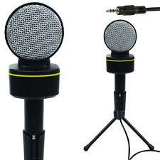 3,5 Mm Mini Micrófono De Condensador-pc/mac/laptop Aux-teléfono Control De Volumen Stand