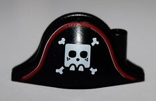 LeGo Pirate Minifig Headgear Hat Bicorne w/ Large Square Skull and Crossbones