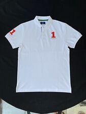 Hackett Classic Fit White Cotton Polo Shirt Size Medium
