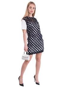 RRP €690 GIAMBA By GIAMBATTISTA VALLI Shift Dress Size 40 / S Polka Dot Organza