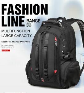 BANGE 45L Travel backpack 15.6 Laptop Backpack Men USB Anti theft Backpacks