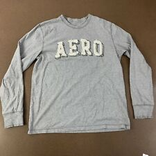 Aeropostale Men's Size Large Authentic Fit Gray Long Sleeve T-Shirt