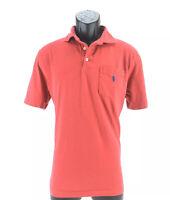 Polo Ralph Lauren Custom Polo Shirt Red Blue Logo Short Sleeve Size Medium