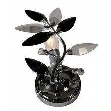 Wandleuchte Floris Wand Lampe mit Acrylglas Kriistall Blätter Klar & Schwarz