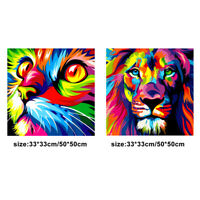 DIY Colorful Animal Diamond Painting Embroidery Cross Stitch Gift Home Decor