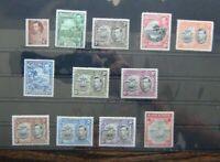 Grenada 1938 - 50 set to 10s MM (1/4d 1/2d 1.5d 2d 2.5d Unused 10s Toned)
