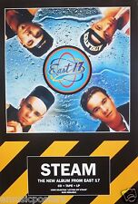 "EAST 17 ""STEAM"" U.K. PROMO POSTER - Pop, Europop, Rap, Hip hop Music"