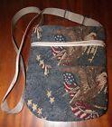 Designer Cross-body/Shoulder Bag-Tapestry Patriotic Medium, Kenny's Bags - 8 1/2
