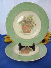 "Wedgwood SARAH'S GARDEN Salad Plate 8 1/4"" FRAGARIA VESCA Set Of 2"
