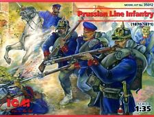 PRUSSIAN (GERMAN) LINE INFANTRY 1870-71 #35012 1/35 ICM