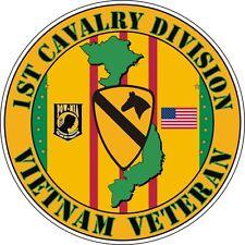 """1st Cavalry Div Army Vietnam Veteran Die Cut 5.5"""" Sticker 'Officially Licensed'"""